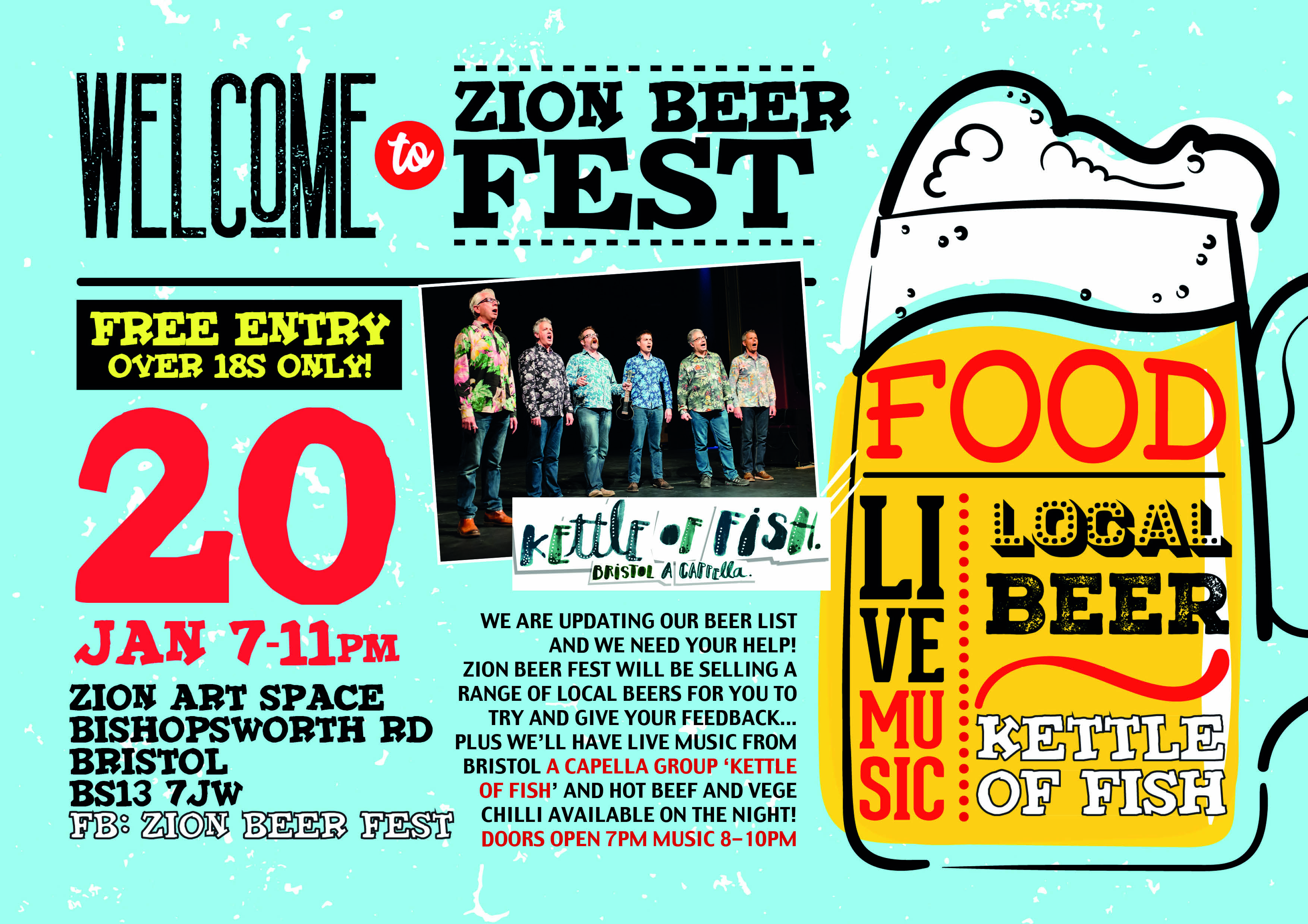 ZION BEER FEST POSTER